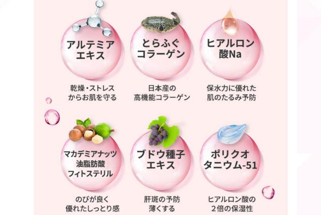 6種類の成分の説明